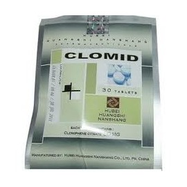 Clomid 50mg Tablets China Hubei Pharmacy ( Clomiphene Citrate ) 30 tabs